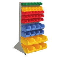 Single Sided Free Standing Rack With Bins