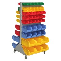 Mobile Trolley Double Sided with bins